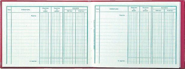 Position de compte 110 x 150 mm Cahier comptable EXACOMPTA 13501E | AZ ... Hsm