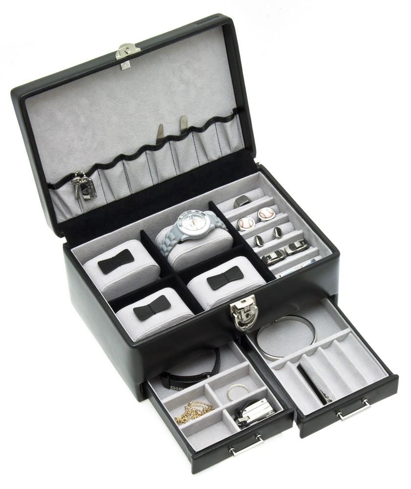 boite bijoux samson pour homme noir davidt 39 s 390228 01 az fournitures. Black Bedroom Furniture Sets. Home Design Ideas