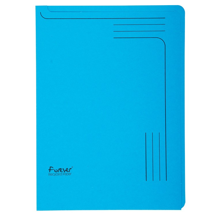 chemise coin a4 en papier bleu exacompta 48106e classement az fournitures. Black Bedroom Furniture Sets. Home Design Ideas