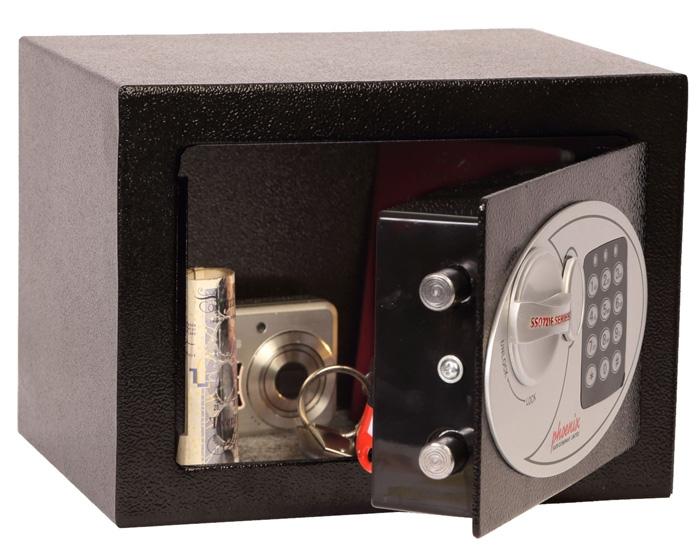 mini coffre fort serrure lectronique 4 l phoenix ss0721e az fournitures. Black Bedroom Furniture Sets. Home Design Ideas